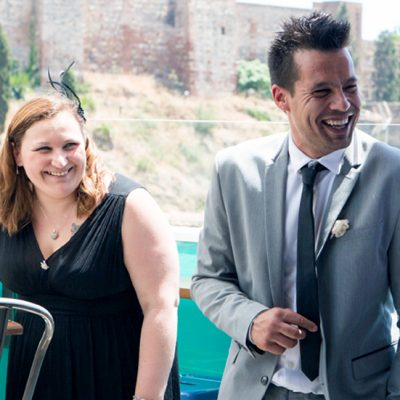 Wedding with friends in Malaga on holidays
