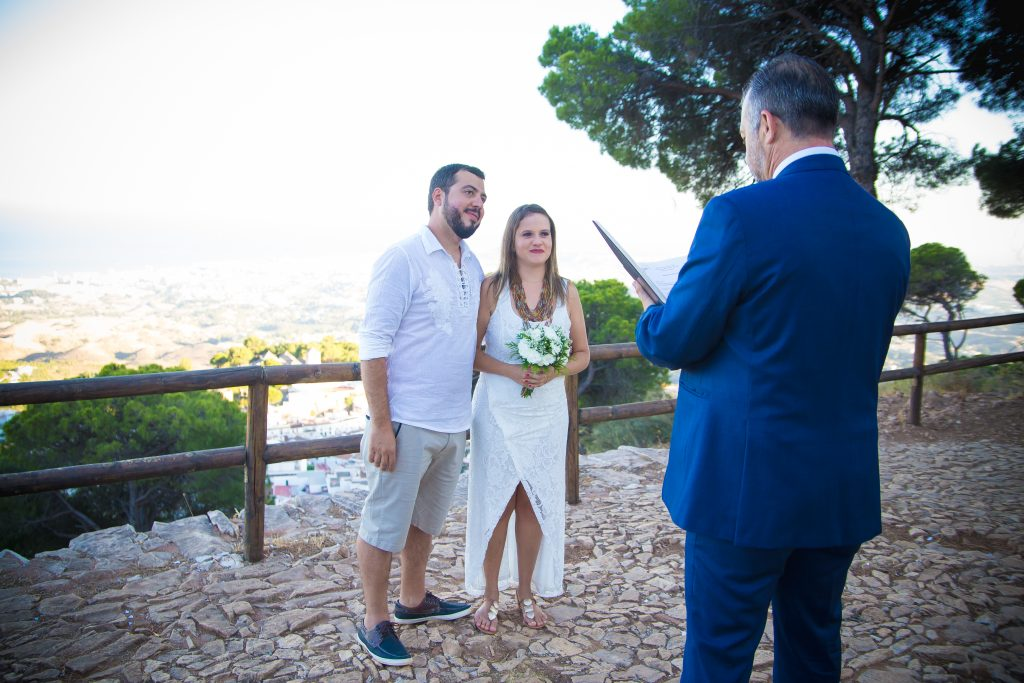 Little-wedding-blessing-ceremony-in-Mijas-Malaga-Spain Wedding minister Malaga wedding coordinator